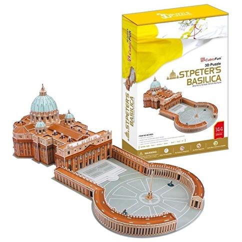 Cubic Cubic Fun 3D 144 Parça Puzzle St. Peter'S Basilica Renkli